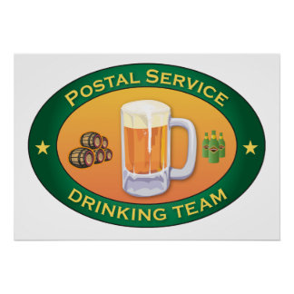 Postal Service Drinking Team Poster