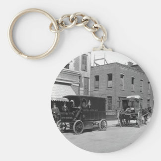 Postal Service Technology Upgrade: early 1900s Basic Round Button Keychain