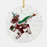 Postal Shivae Double-Sided Ceramic Round Christmas Ornament
