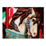 Postal silenciosa de la foto del caballo del carru
