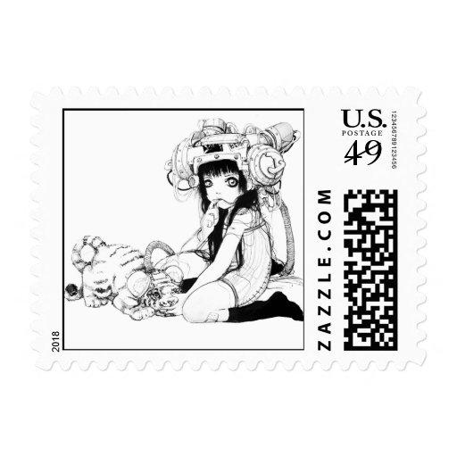 Postal simbiótica de los amigos (pequeña) sello