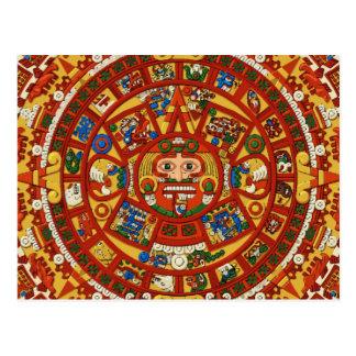 Postal simbólica maya antigua del calendario