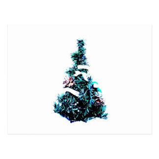 Postal simple del navidad con el árbol de navidad