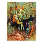 """Postal: """"Sirenas de hadas"""" por Warwick Goble"""