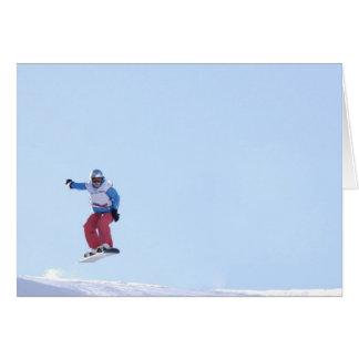 Postal Snowboarder Tarjeta De Felicitación