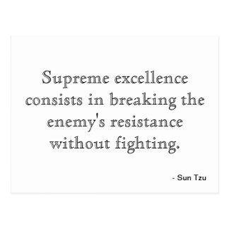 Postal sobre excelencia
