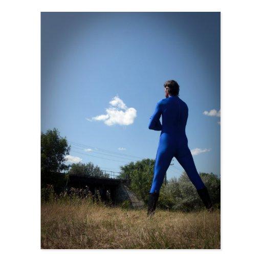 Postal solitaria azul de la imagen 04 del sistema