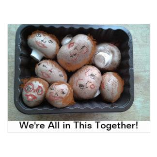 Postal - somos todos en esto juntos - setas