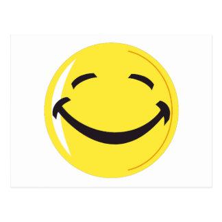 Postal sonriente de la cara