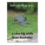 Postal sonriente del cocodrilo