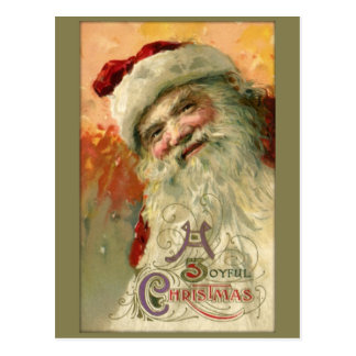 Postal sonriente del navidad de Santa del vintage