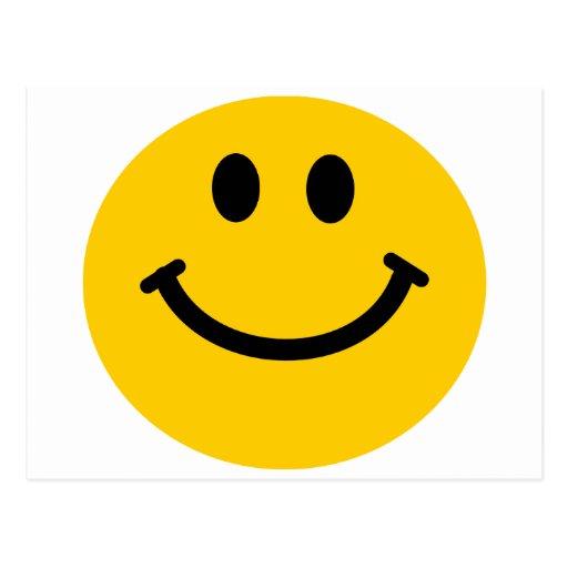 Postal sonriente feliz amarilla de la cara