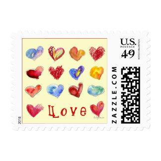 Postal Square 17 Valentine Hearts ... - Customized Postage