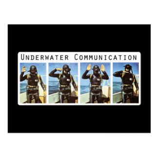 Postal subacuática de la comunicación