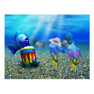 Postal subacuática del músico