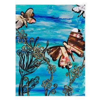 Postal subió mariposa
