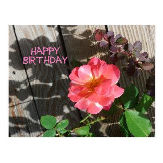 Postal subió rosa del feliz cumpleaños