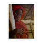 Postal sudanesa del chica