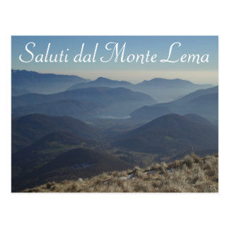 Postal suiza de Saluti dal Monte Lema -