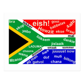 Postal surafricana del argot - personalizable