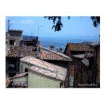 Postal - tejados sobre San Gimignano