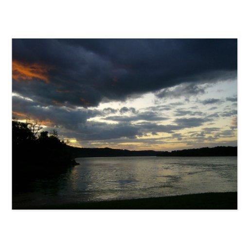 Postal temática del valle del río Ohio