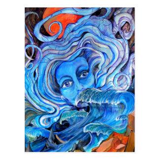 Postal tempestuosa de las aguas