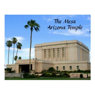 Postal - templo del Mesa Arizona