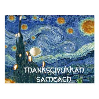 Postal: Thanksgivukkah Sameach (noche aceitosa) Postal