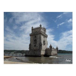 Postal-Torre de Belem de Lisboa