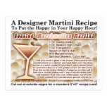 Postal tostada de la receta de Martini de la melco