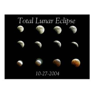 Postal total de la foto del eclipse lunar