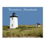 Postal total de Provincetown del faro de Cape Cod