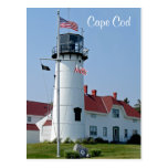 Postal total del faro de Cape Cod Chatham