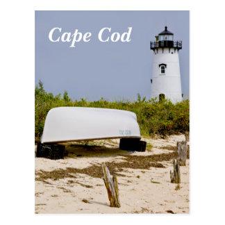 Postal total del faro de Cape Cod Edgartown