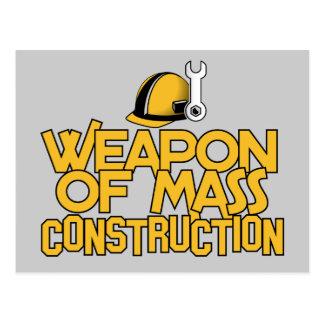 Postal total del personalizado de la construcción