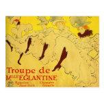 Postal:  Toulouse-Lautrec - compañía de la danza