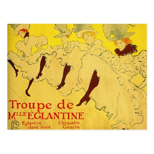 Postal:  Toulouse-Lautrec - compañía de la danza Tarjeta Postal