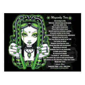 Postal tóxica del poema de Vivian Cybergoth mágico