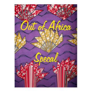 Postal tradicional especial africana del modelo