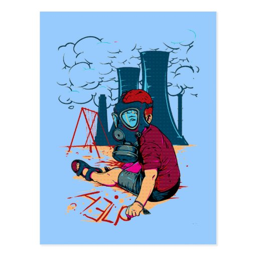 postal traviesa del arma nuclear