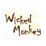 Postal traviesa del mono