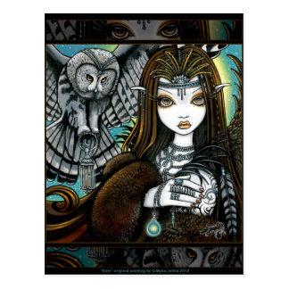 Postal tribal de Fae del tatuaje de la diosa del b