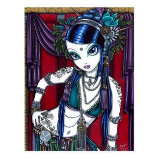 Postal tribal de la bailarina de la danza del vien