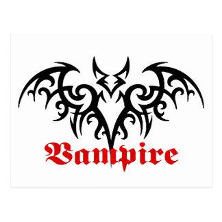Postal tribal del palo de vampiro