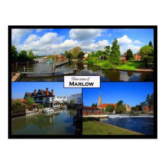 Postal triple de la visión de Marlow, Buckinghamsh