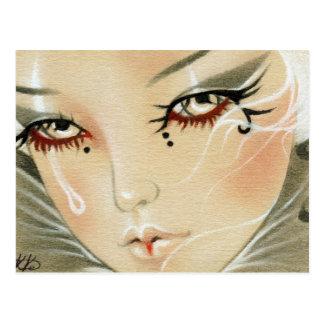Postal triste de la lágrima del bufón