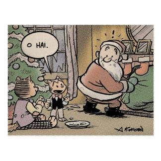 Postal tronchante del navidad de los gatos