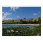 Postal tropical de la foto de la playa del St. San