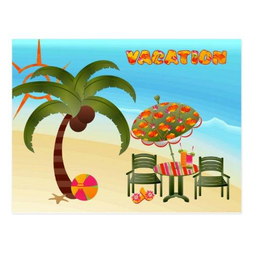Postal tropical de la playa